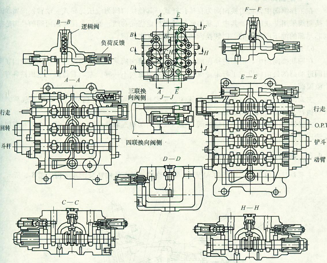 住友s280系列挖掘机主液压系统原理(图)