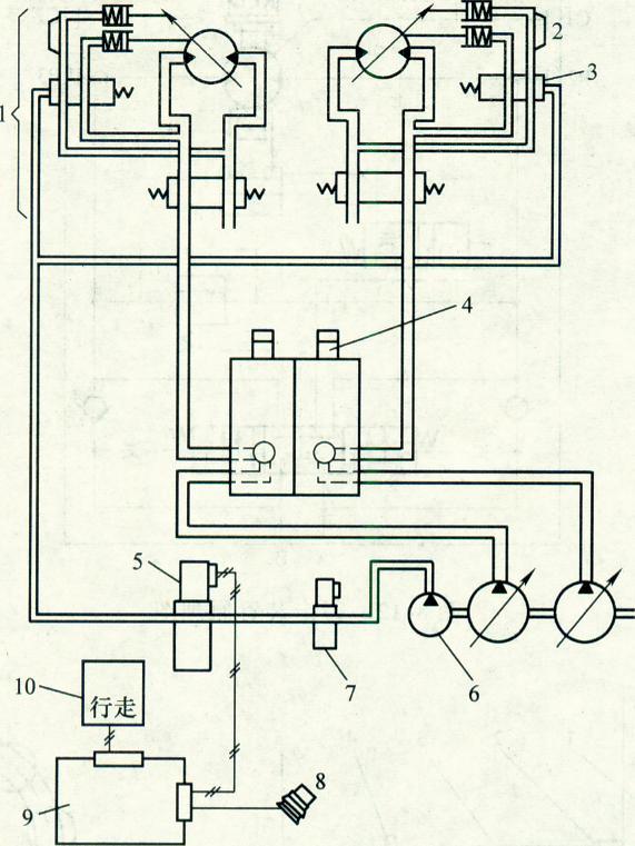 图解:行走两速控制系统